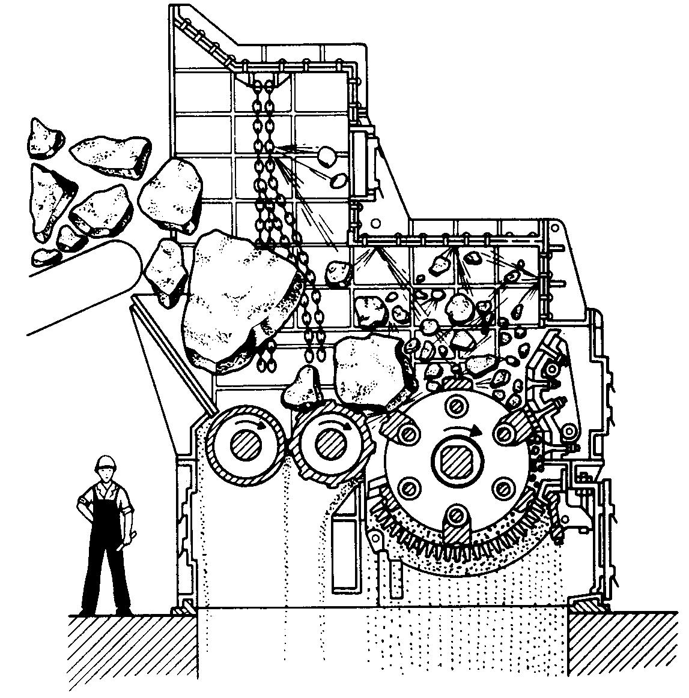 Молотковая дробилка м 20-30 броневая плита рисунок чертеж роторные дробилки др в Сургут